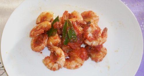 Ricetta –  Gamberi in Tocio