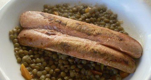 Ricetta : Wurstel e Lenticchie